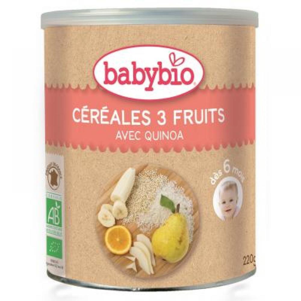 BabyBio 3н төрлийн жимстэй хүүхдийн каш 6+ сар