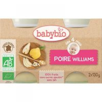 BABYBIO příkrm hruška Williams 2x130 g