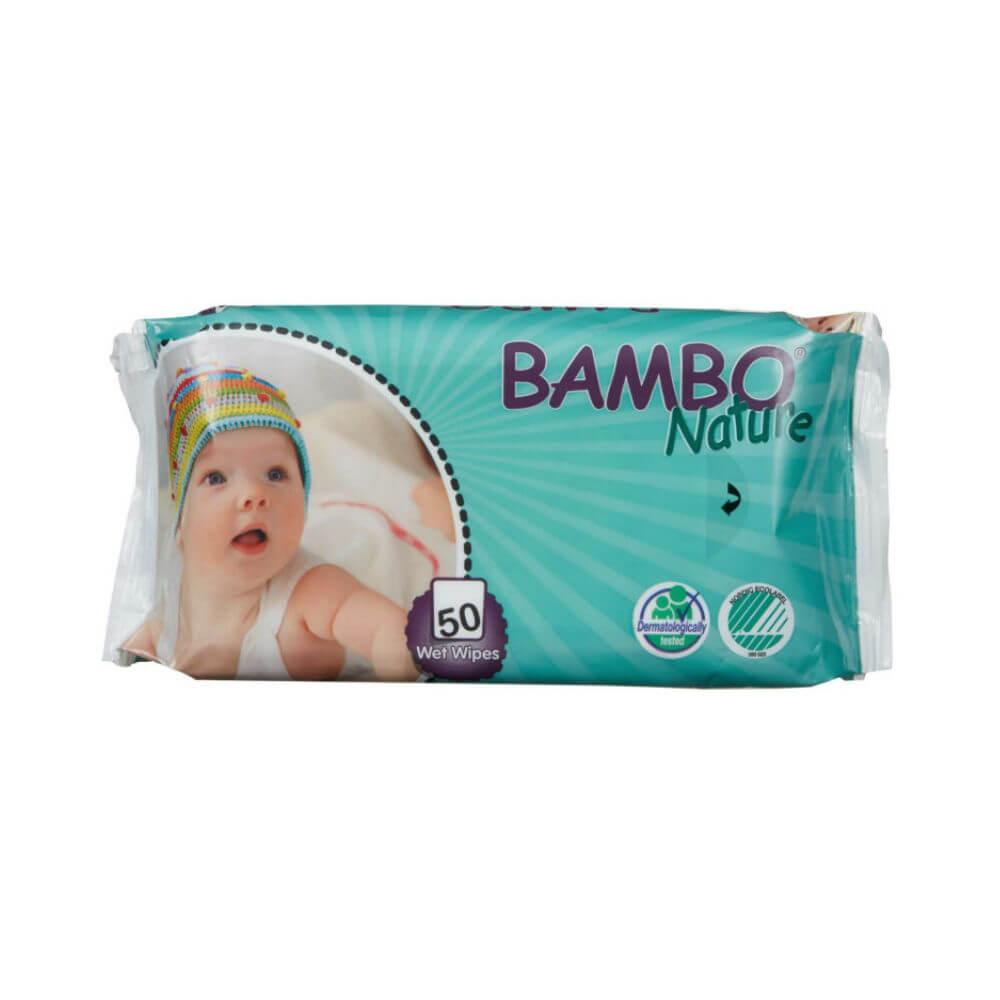 ABENA Bambo Nature dětské vlhčené ubrousky 50 kusů