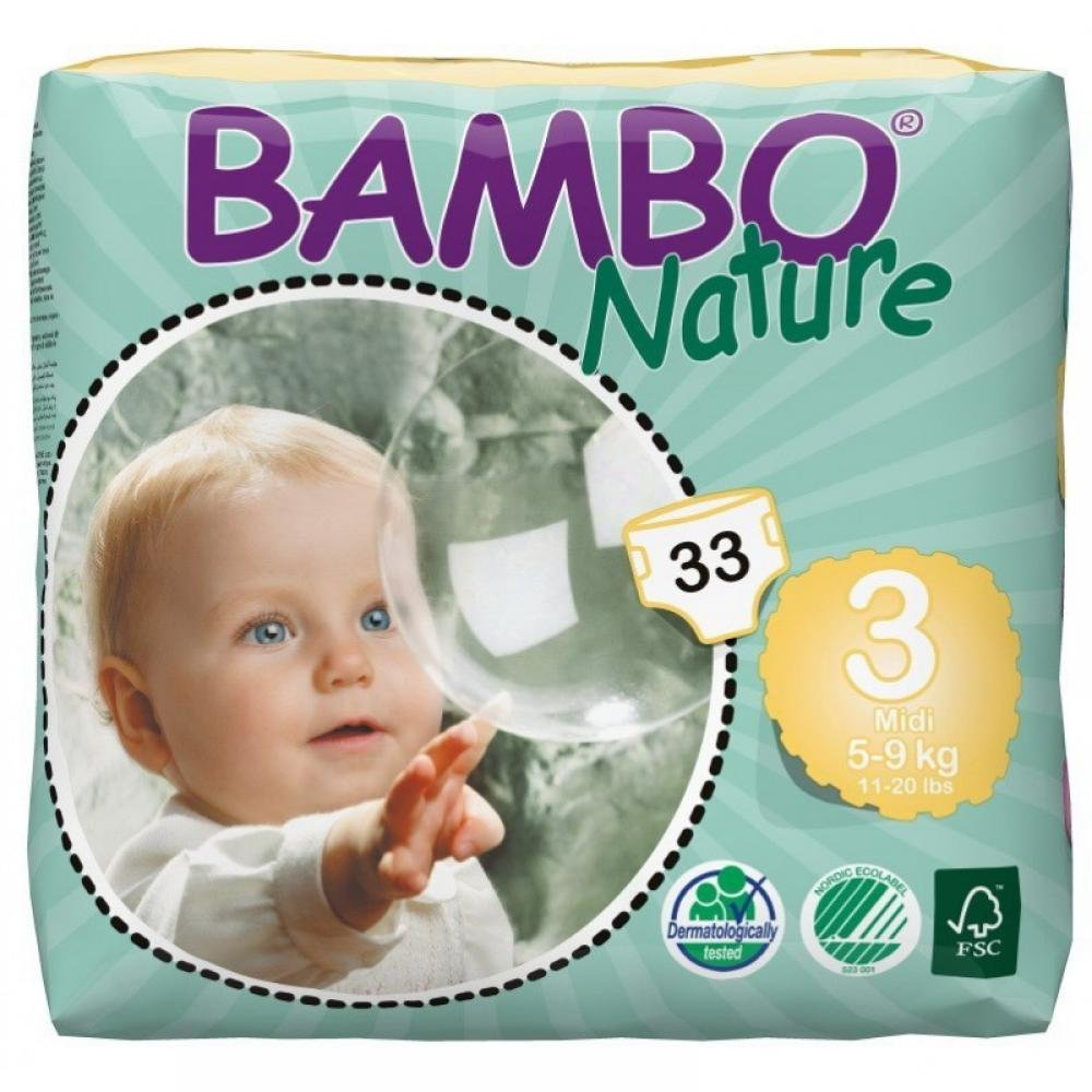 BAMBO Nature Midi plenkové kalhotky 5 - 9 kg 33 ks