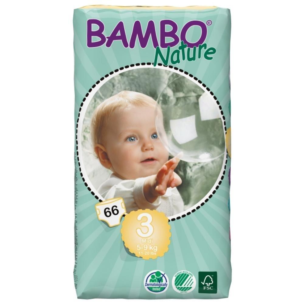 BAMBO Nature Midi plenkové kalhotky 5 - 9 kg 66 ks
