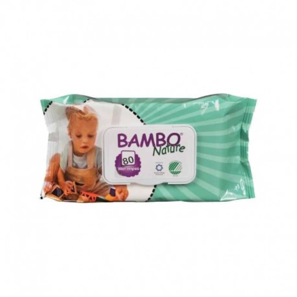 BAMBO Nature vlhčené ubrousky 80 kusů