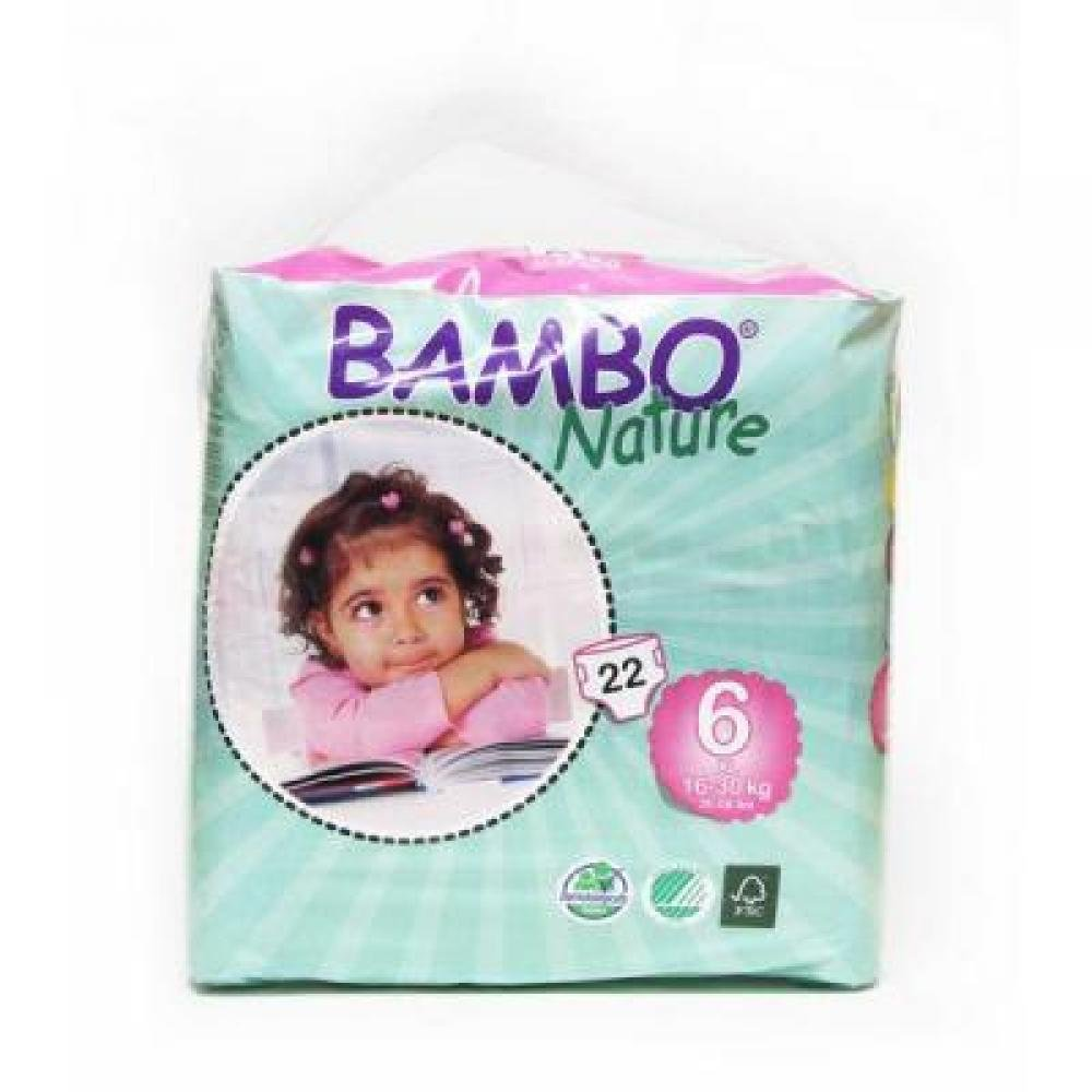 BAMBO Nature XL plenkové kalhotky 16 - 30 kg 22 ks