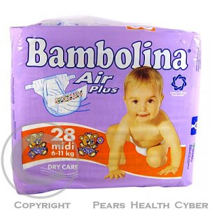 BAMBOLINA Air Plus Midi  6-11kg/28ks 43016 pl.kalh