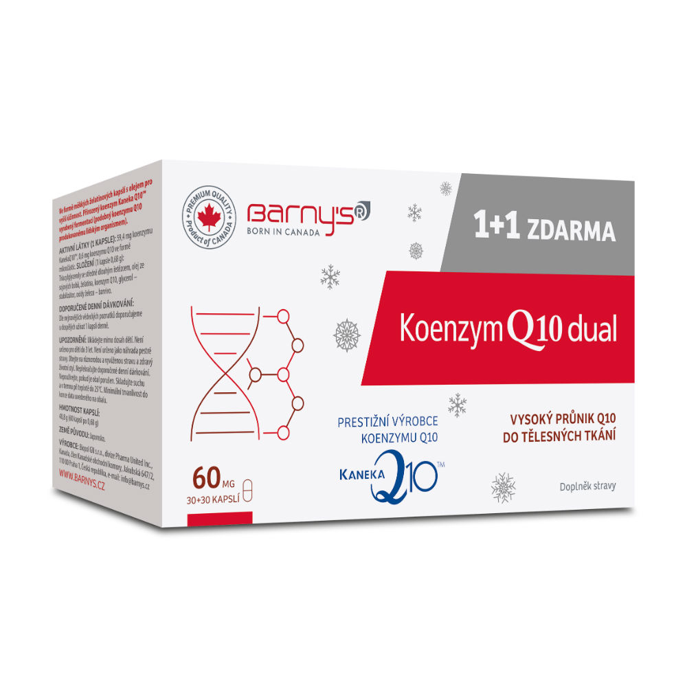 BARNY´S Koenzym Q10 Dual 60mg 30+30 kapslí ZDARMA