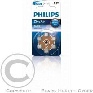 Baterie do naslouchadel PHILIPS ZA312B6A/10 6ks