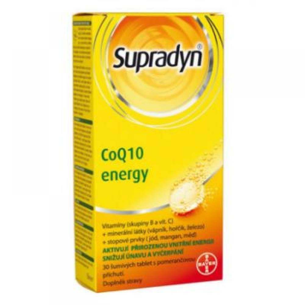BAYER Supradyn CO Q10 Energy 30 šumivých tablet