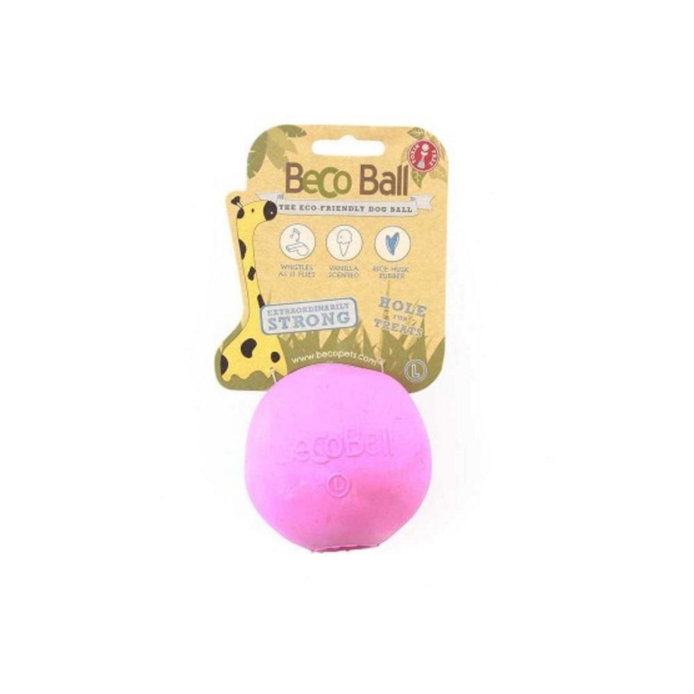 BECO Ball EKO míček pro psy - růžový XL
