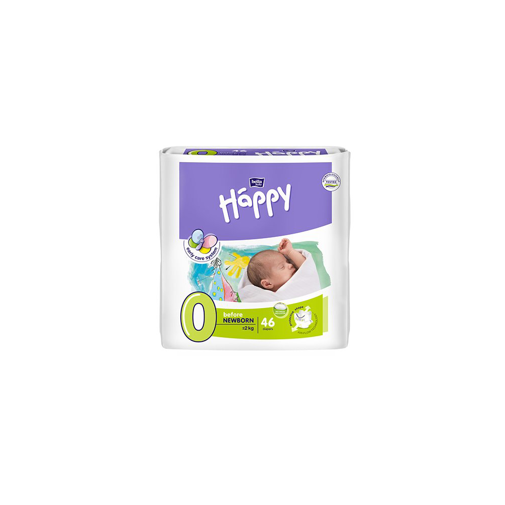 BELLA HAPPY Before NewBorn dětské pleny 46 ks