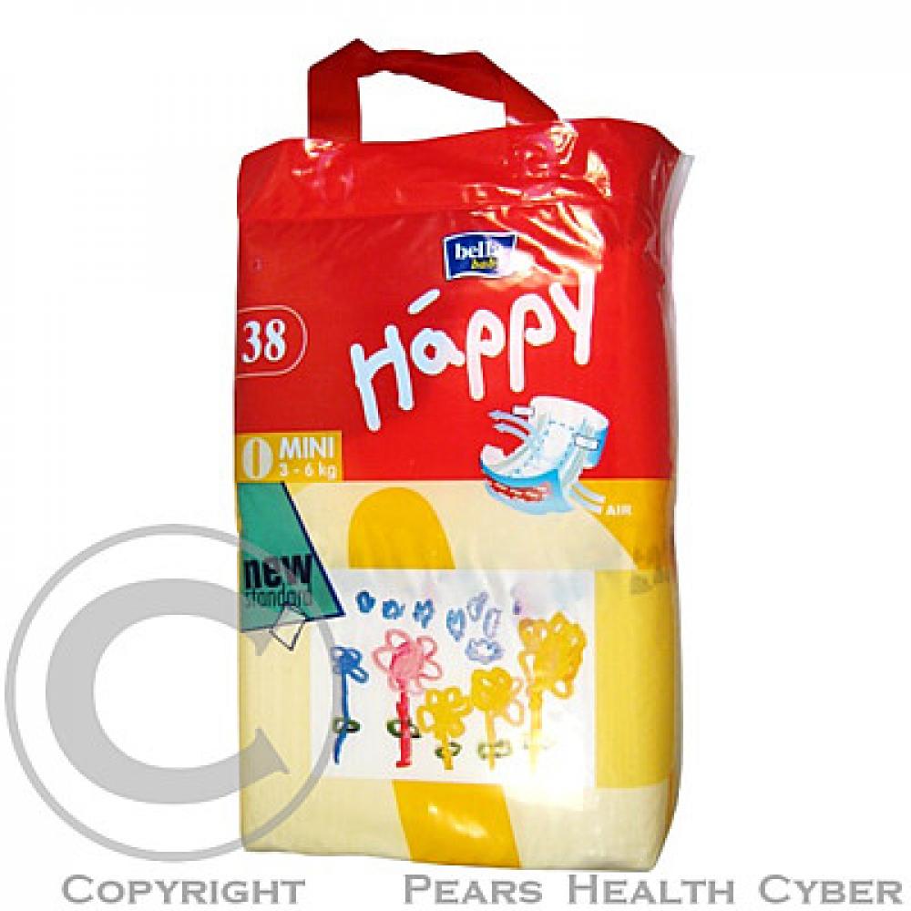 BELLA BABY Happy Mini Dětské pleny 3-6 kg 38 ks