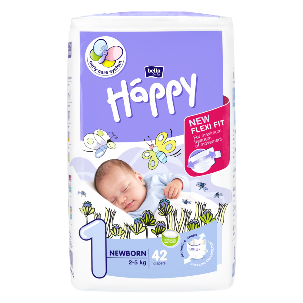 Bella Happy NewBorn dětské pleny 2-5 kg/42ks