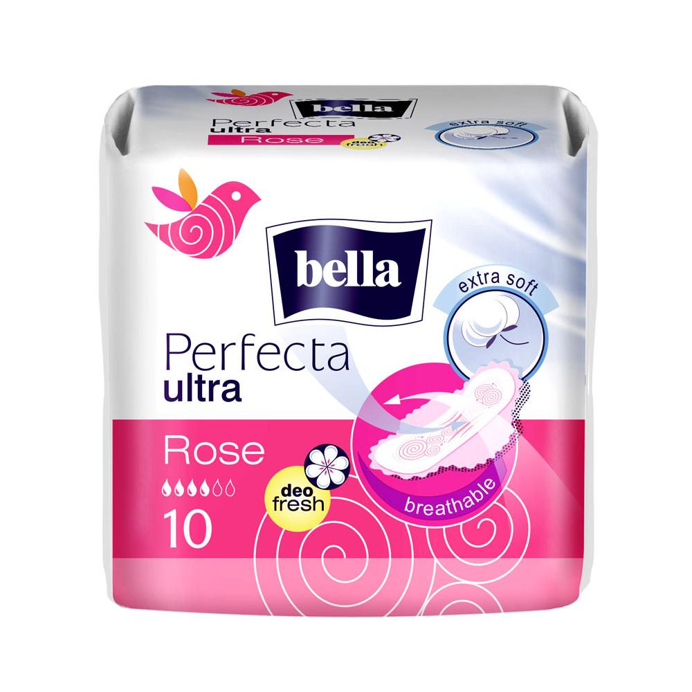 BELLA Hygienické vložky perfecta rose deo 10 kusů v balení