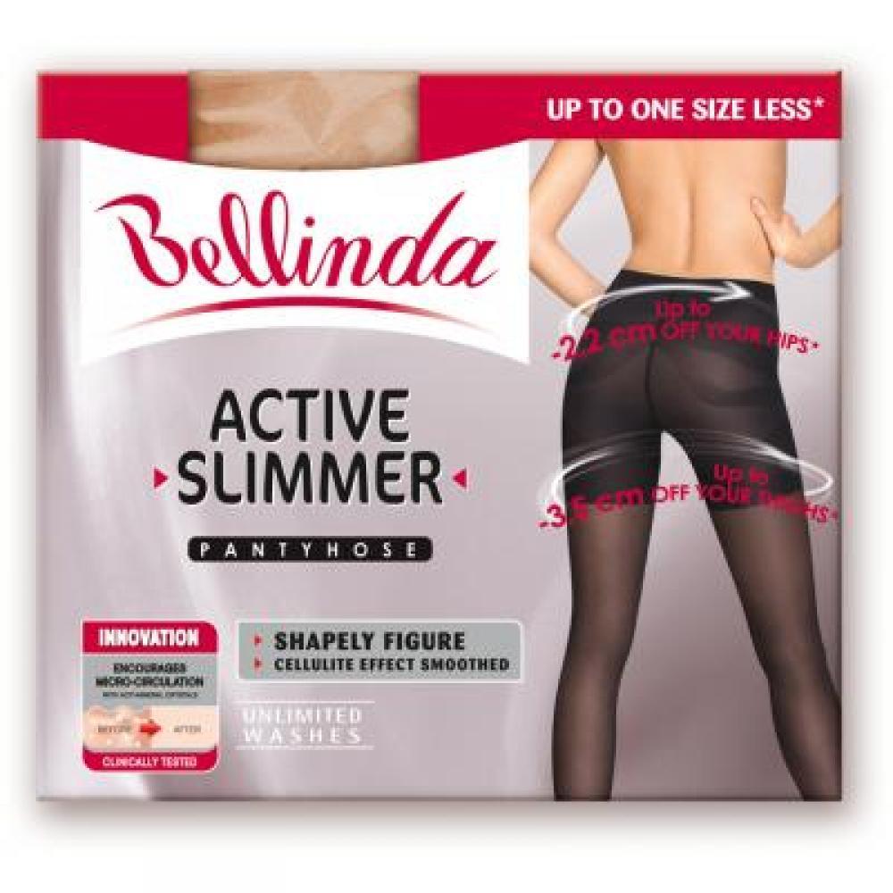BELLINDA Active slimmer tights (zeštíhlující punčochy černé) velikost M