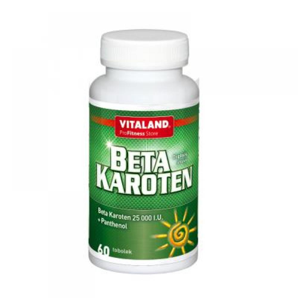 VITALAND Beta Karotene + Pantenol 60 kapslí