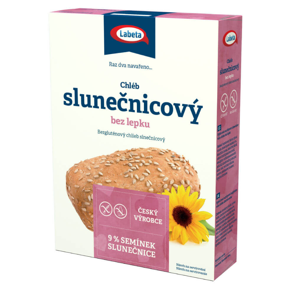 Bezlepkový chléb slunečnicový 500g Labeta