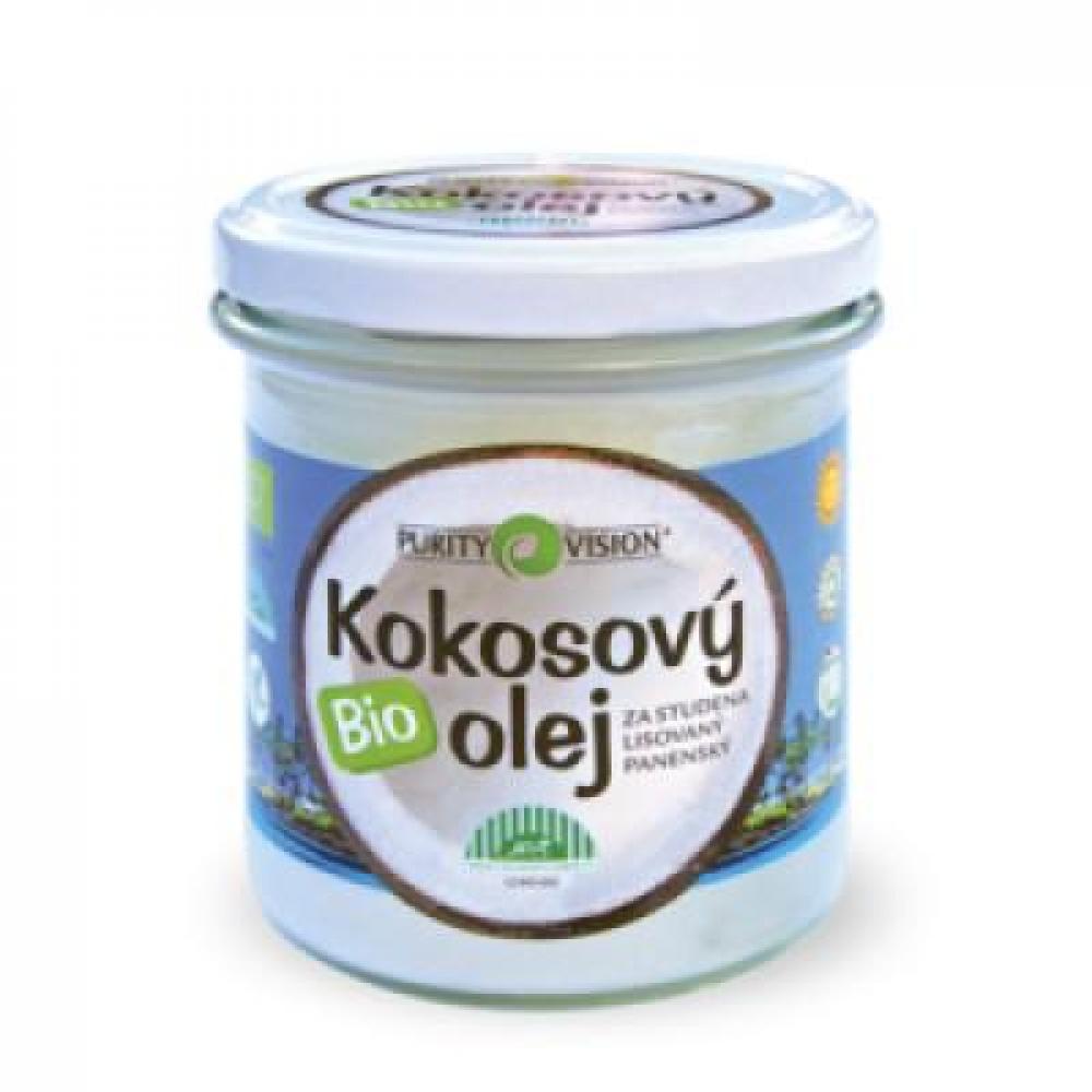 PURITY VISION Bio Kokosový olej panenský ve skle 600 ml