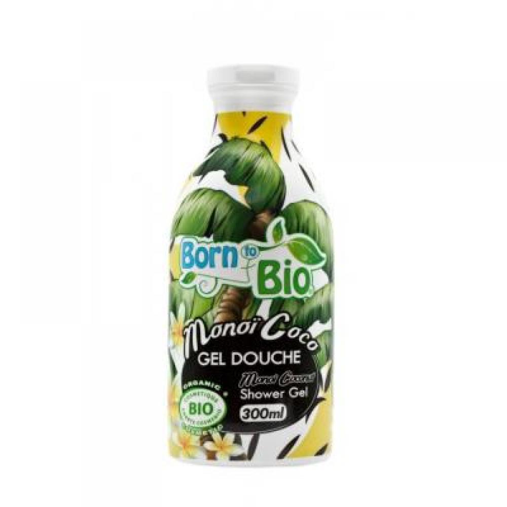BORN TO BIO Sprchový gel Monoi kokosový olej 300 ml