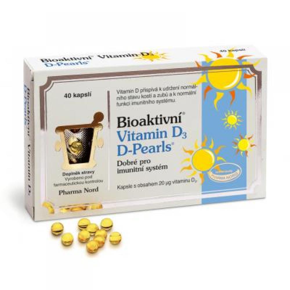 Bioaktivní Vitamin D3 D Pearls 40 kapslí