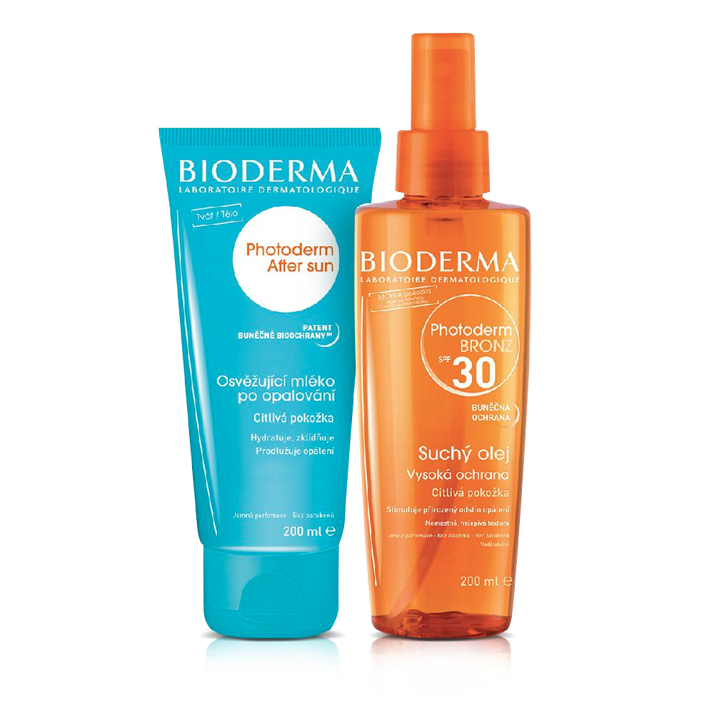BIODERMA Photoderm Bronz olej na opalování SPF30 200 ml + AfterSun 200 ml