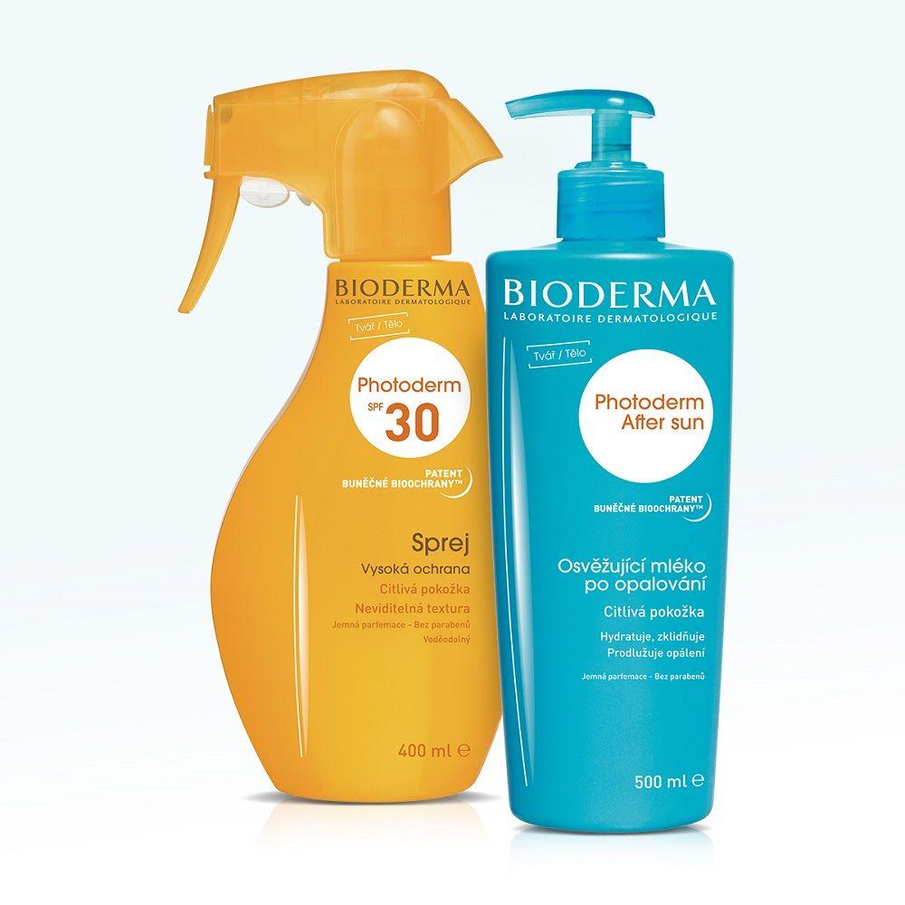 BIODERMA Photoderm Family dárkové balení SPF30 400 ml + Photoderm After Sun 500 ml ZDARMA