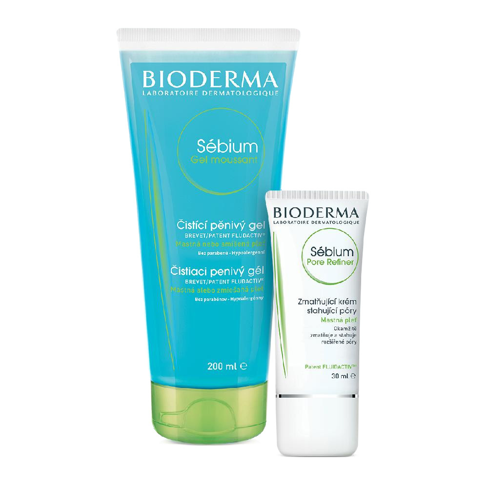 BIODERMA Sébium dárkové balení Pore refiner 30 ml +Gel mouss.200 ml