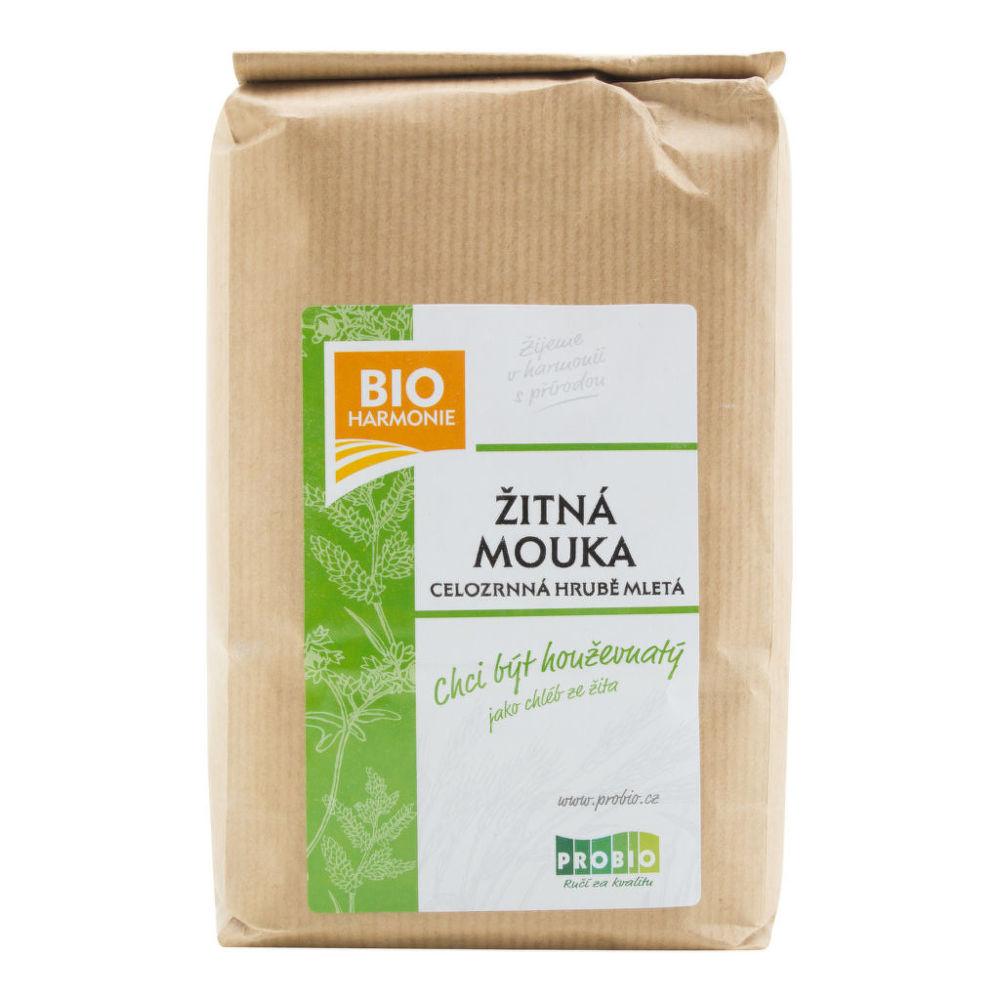 Bioharmonie Bio Mouka žitná celozrnná hrubě mletá 1 kg