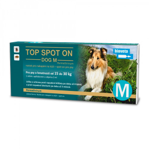 BIOVETA Top Spot On Dog M 1x2 ml (pes 15- 30 kg)