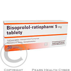 BISOPROLOL-RATIOPHARM 5 MG  30X5MG Tablety