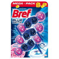 BREF Blue Aktiv Fresh Flowers tuhý WC blok 3x50 g