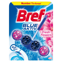 BREF Blue Aktiv Fresh Flowers tuhý WC blok 50 g