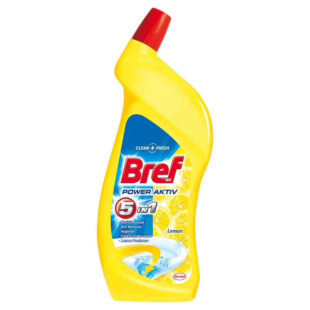 BREF Power Aktiv Wc tekutý čistič Lemon 750 ml