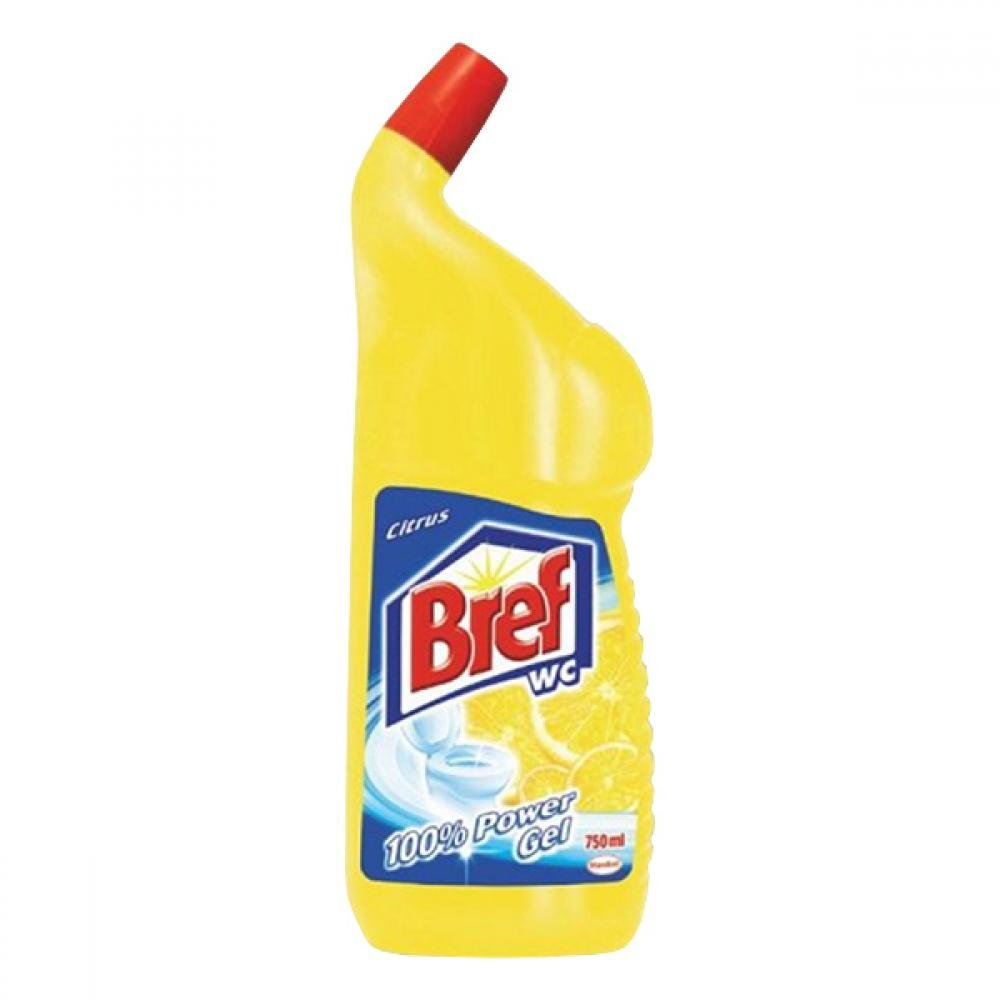BREF Power Aktiv Wc tekutý čistič Lemon 750 ml