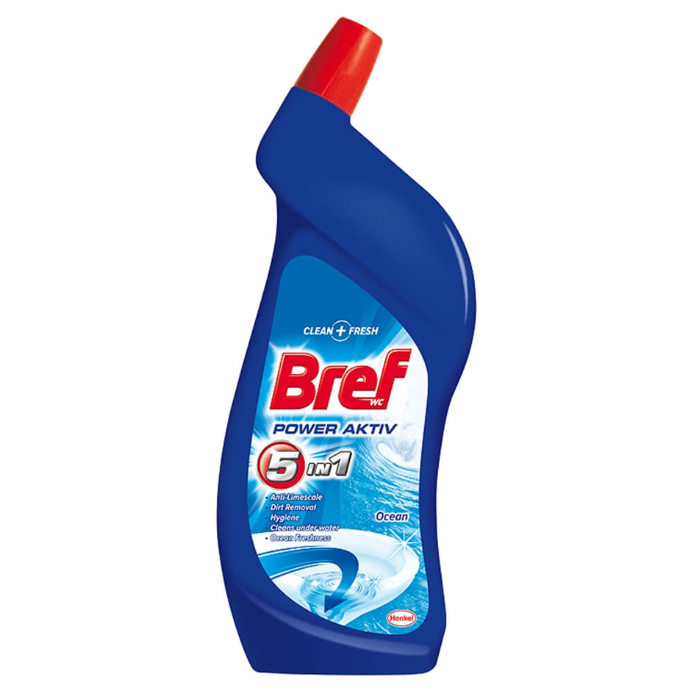 BREF Power Aktiv Wc čistící gel Oceán 750 ml