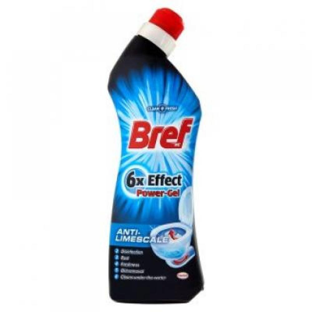BREF 6x Effect Power Gel Anti Limescale čistič 750 ml