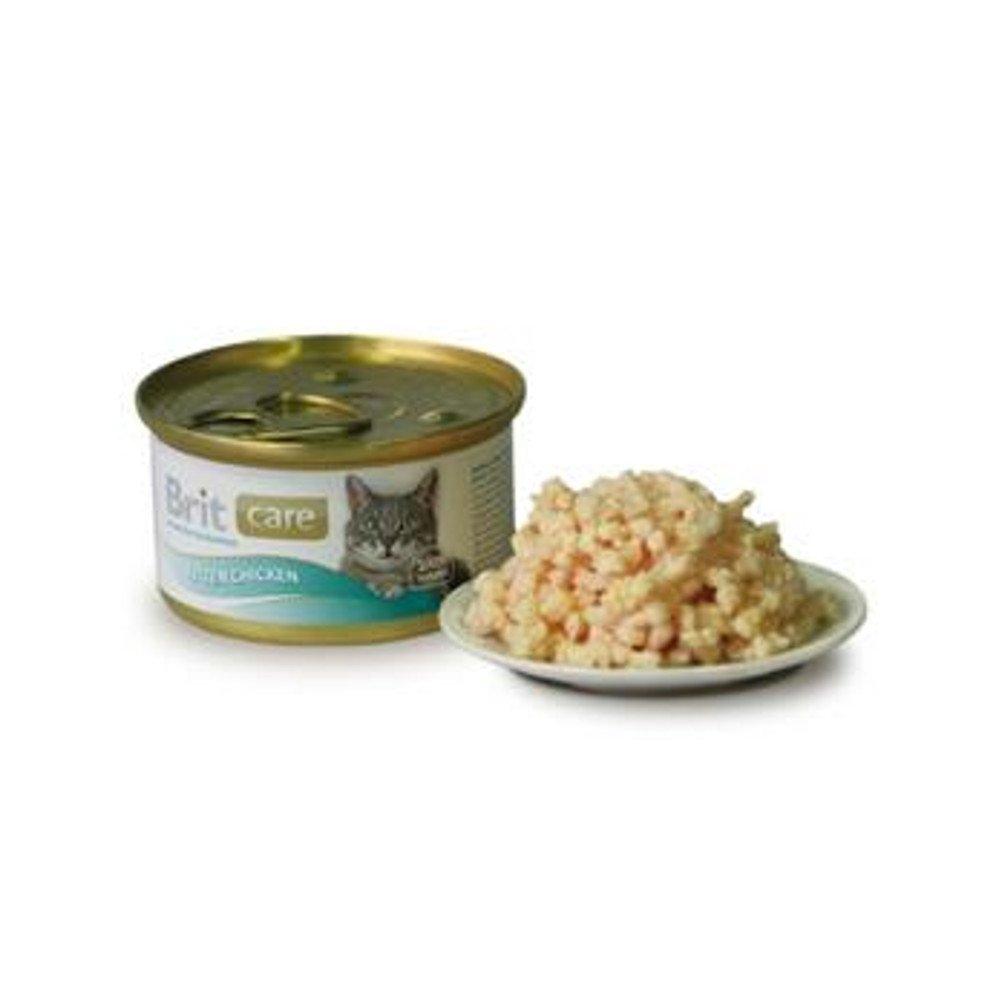 BRIT CARE Cat konz.kuřecí prsa 80 g