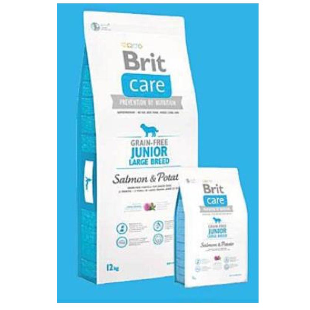 BRIT CARE Dog Grain-free Junior LB Salmon & Potato 1 kg
