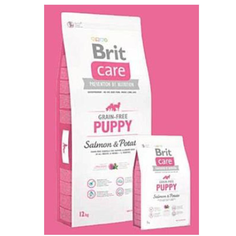 BRIT CARE Dog Grain-free Puppy Salmon & Potato 1 kg