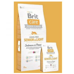 BRIT CARE Dog Grain-free Senior Salmon & Potato 1 kg
