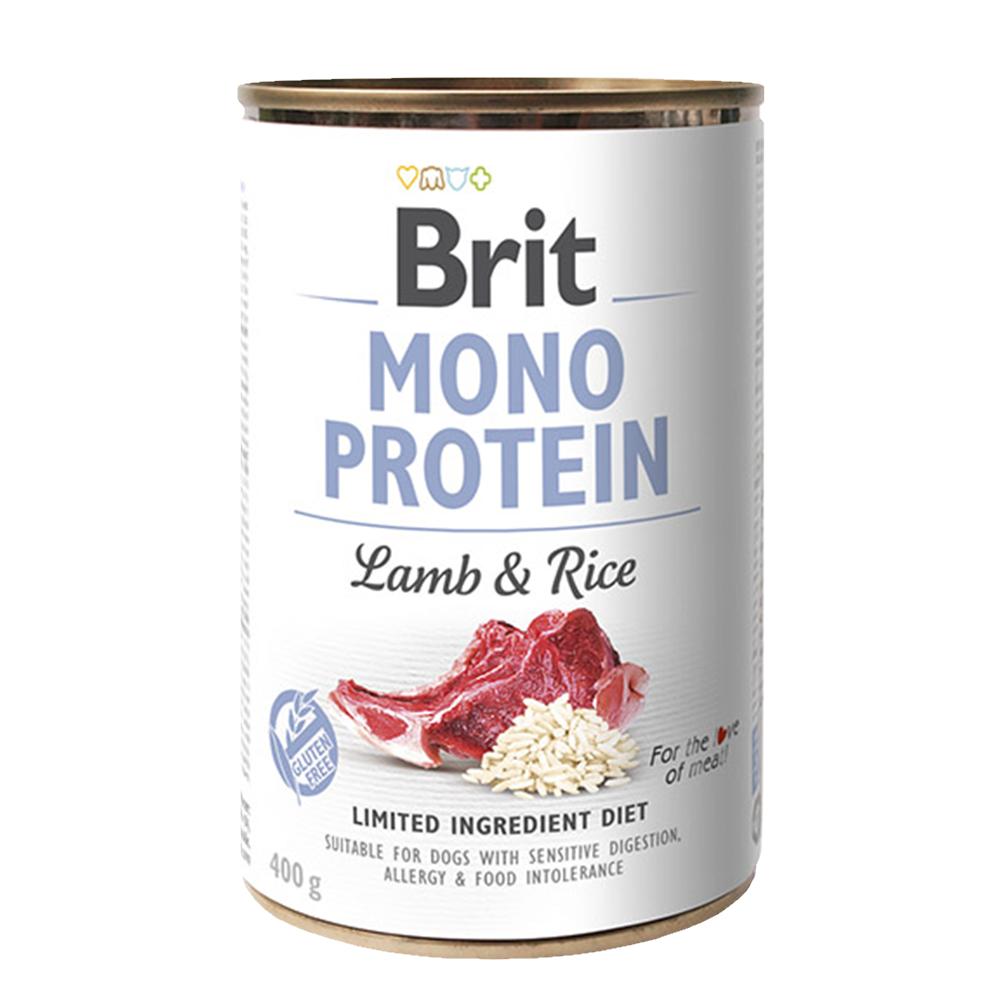 Brit MONO PROTEIN Lamb & Rice konzerva pro psy 400 g