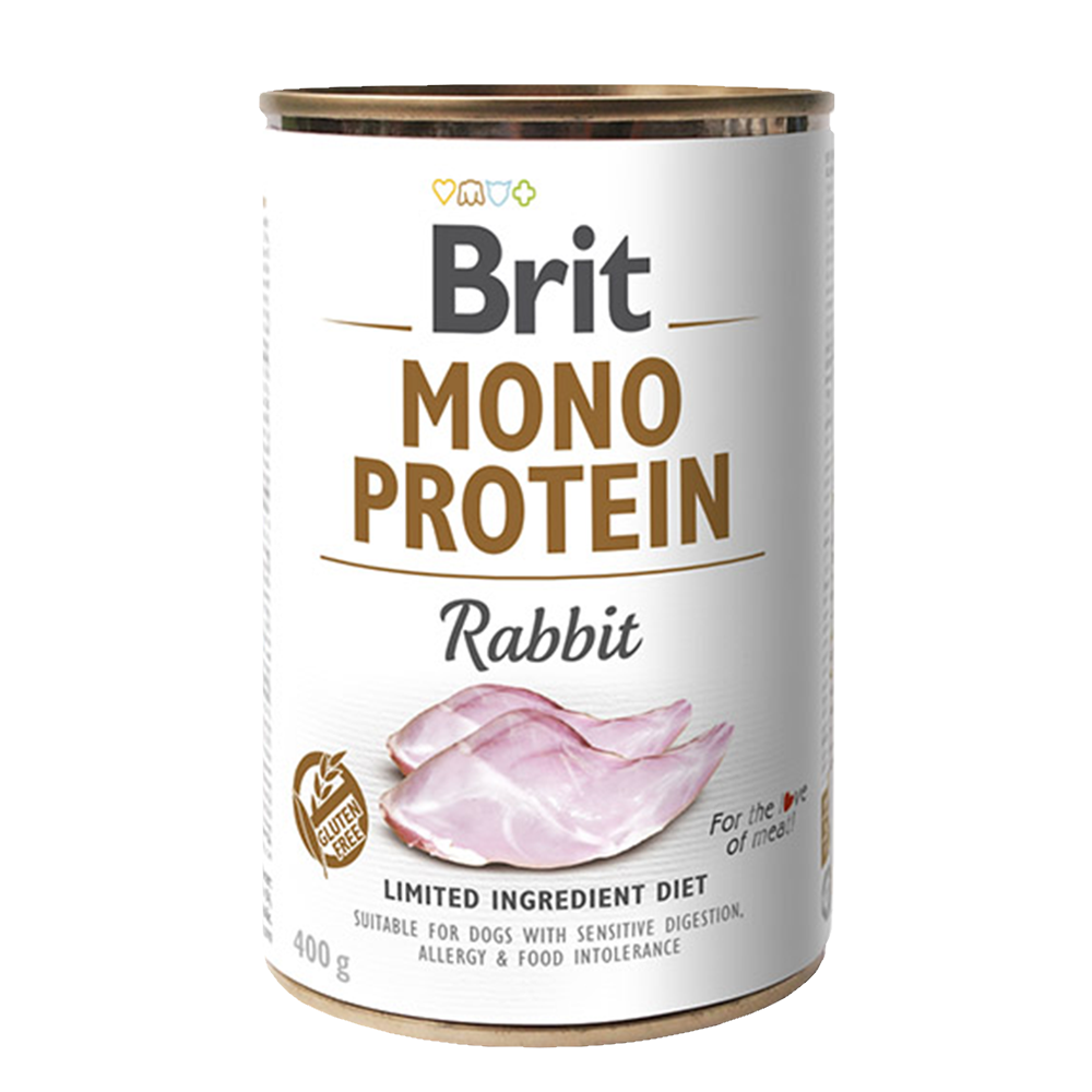 Brit MONO PROTEIN Rabbit konzerva pro psy 400 g