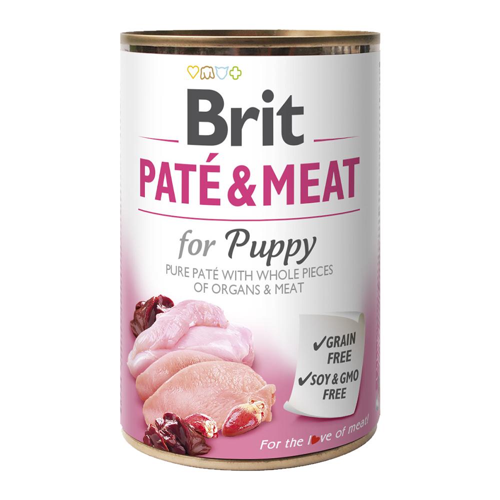 Brit PATÉ & MEAT for Puppy konzerva pro psy 400 g