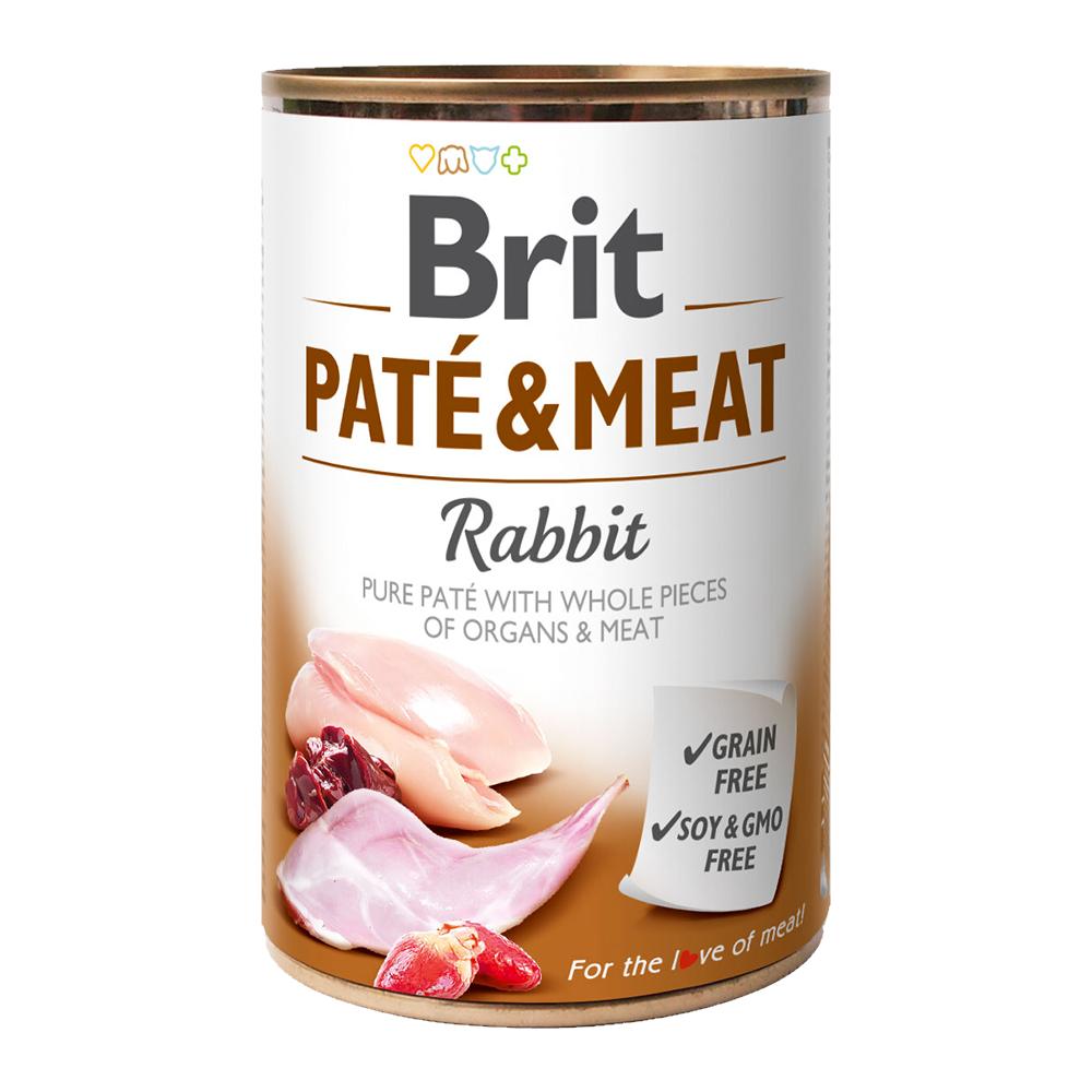 Brit PATÉ & MEAT Rabbit konzerva pro psy 400 g