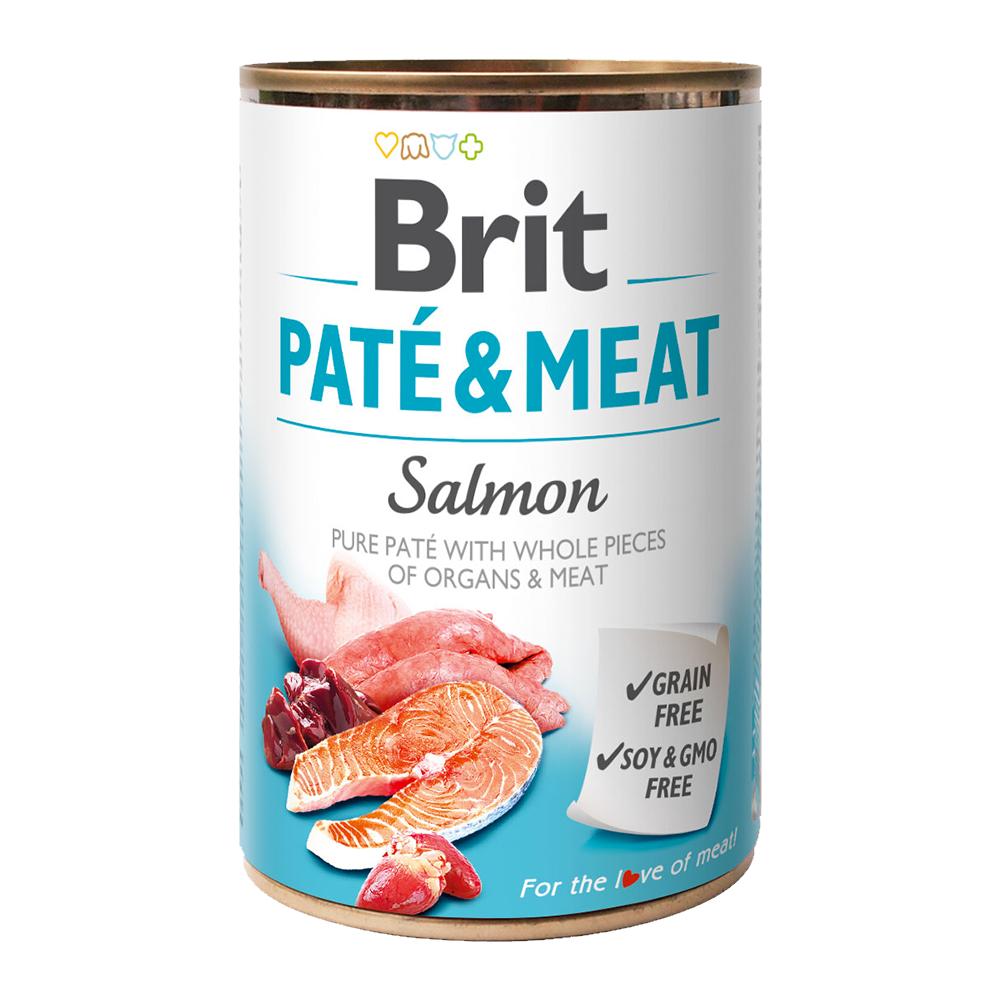 Brit PATÉ & MEAT Salmon konzerva pro psy 400 g