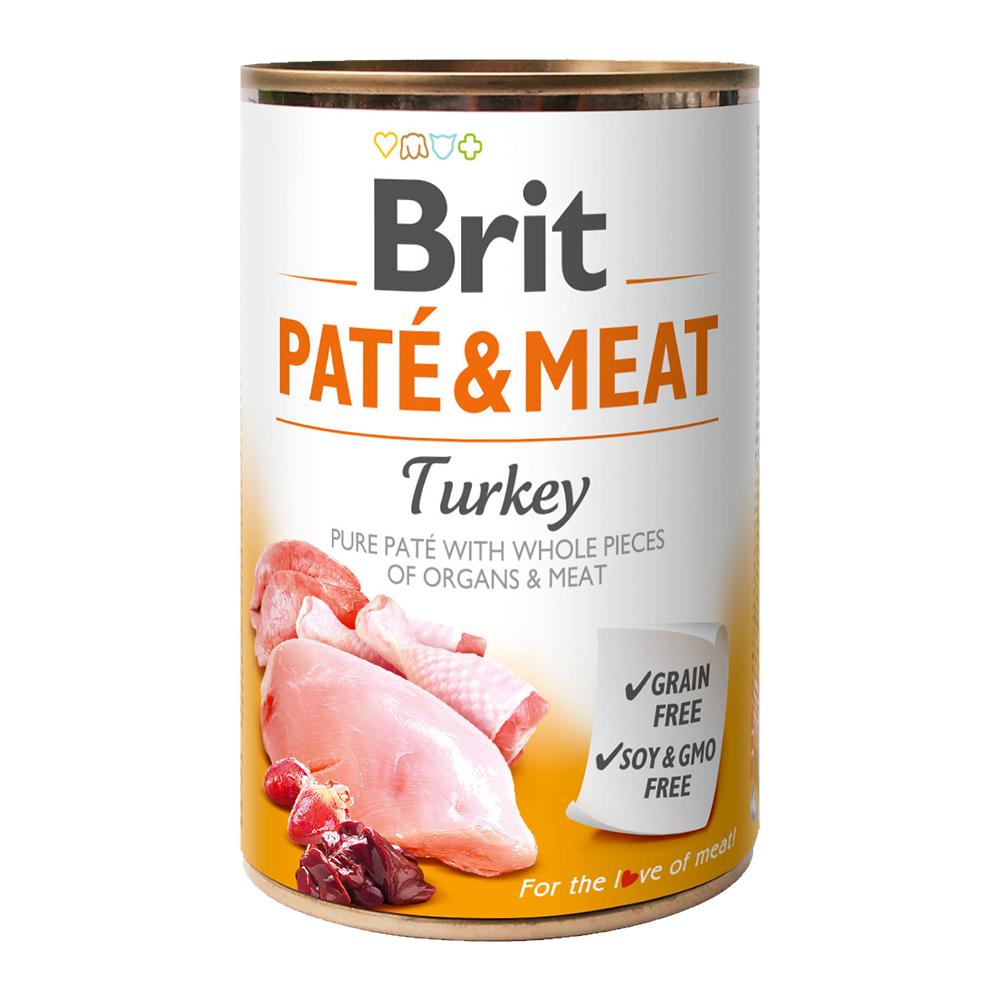 Brit PATÉ & MEAT Turkey konzerva pro psy 400 g