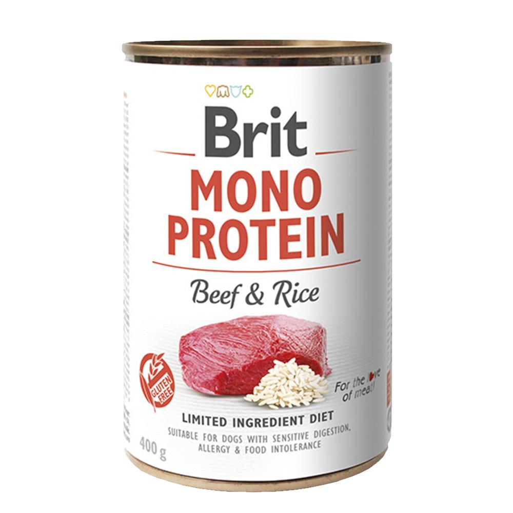 Brit MONO PROTEIN Beef & Rice konzerva pro psy 400 g