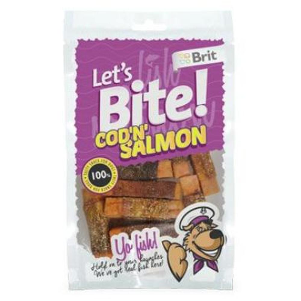 "BRIT pochoutka Let""s Bite Cod""n""Salmon 80 g NEW"