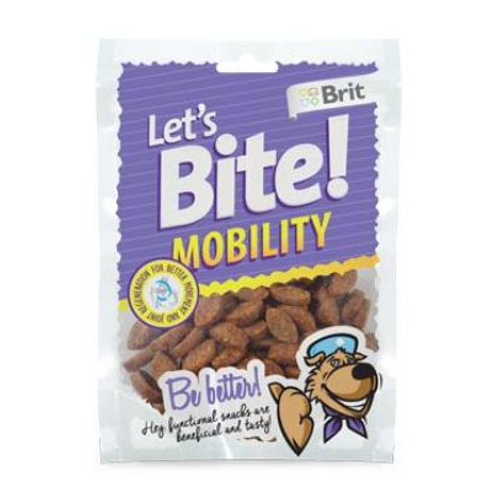 "BRIT pochoutka Let""s Bite Mobility 150 g NEW"
