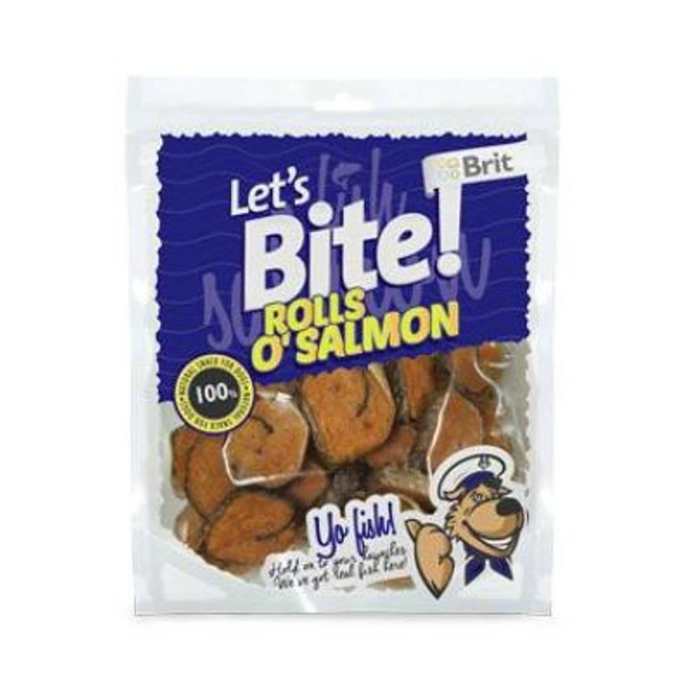 "BRIT pochoutka Let""s Bite Rolls o""Salmon 80 g NEW"