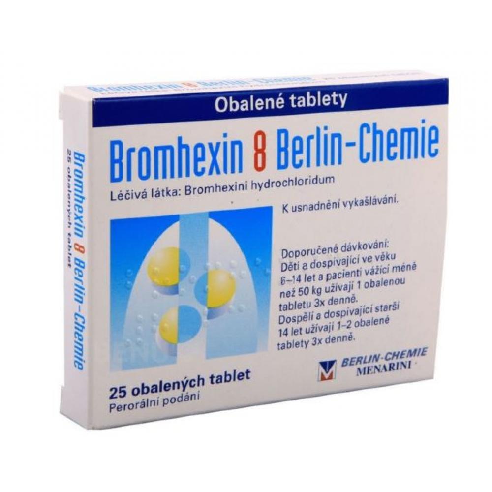BROMHEXIN 25X8MG obalené tablety