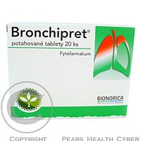 BRONCHIPRET Na průdušky 20 tablet